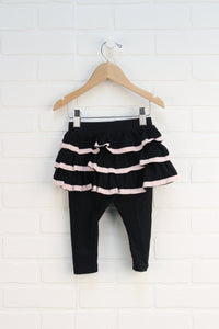 Black + Blush Skirted Leggings (Size 12-18M)