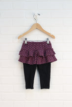 Black + Purple Skirted Leggings (Size 80/12-18M)