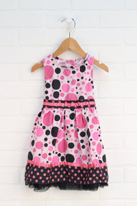 Pink + Black Party Dress (Size 3T)