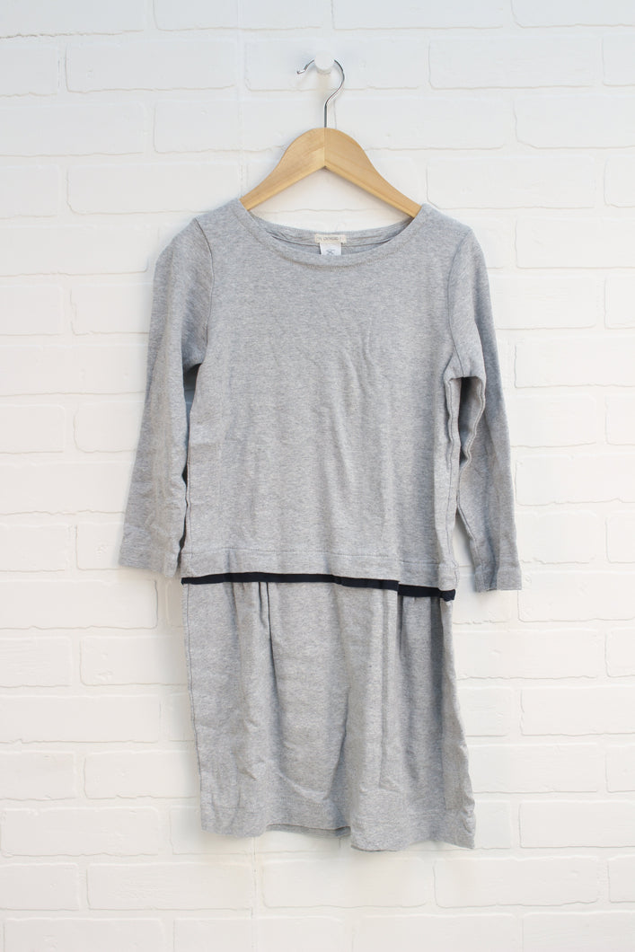 Heathered Grey + Navy Dress (Size 12)