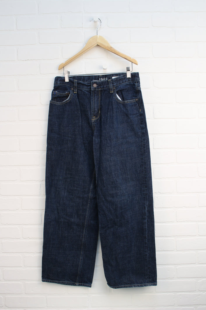 Classic Wash Loose Fit Jeans (Size 14 Husky)