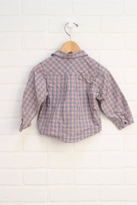 Jacadi Multi Check Button-Up (Size 18M)