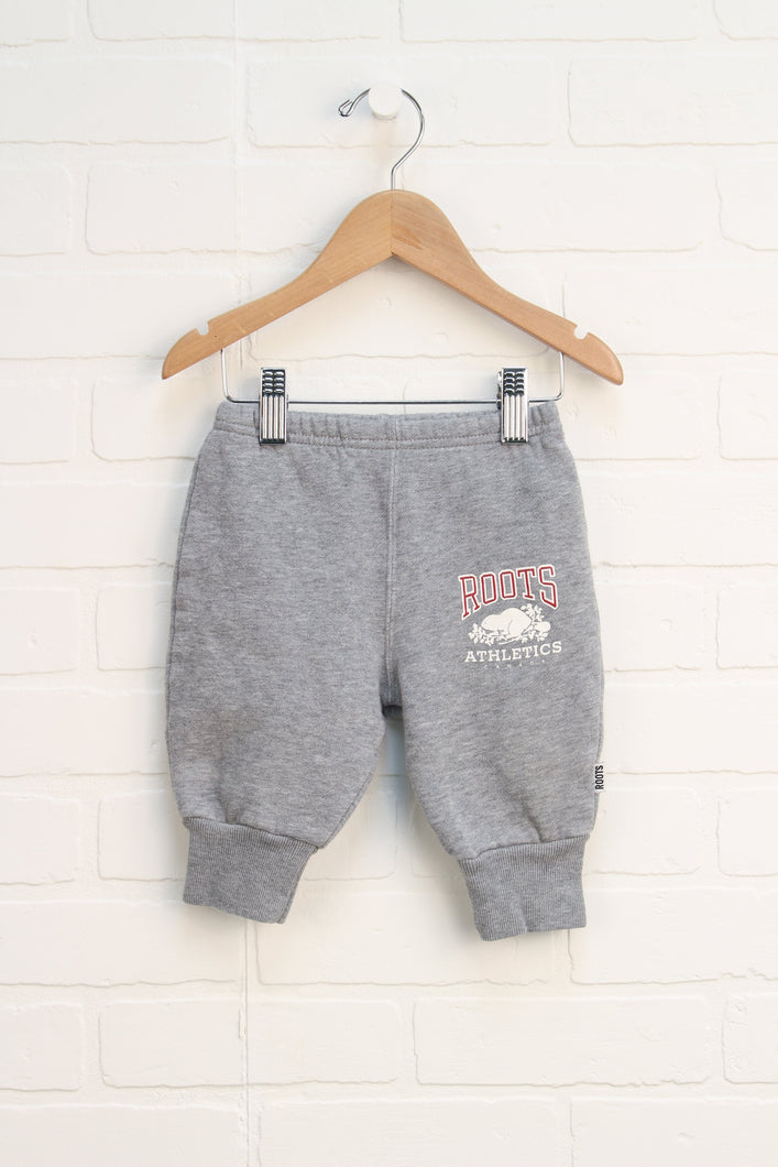 Heathered Grey Joggers (Size 3-6M)