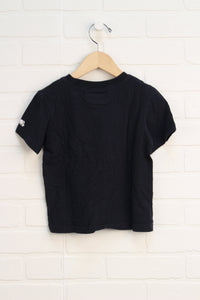Organic Black Graphic T-Shirt (Size 3T)
