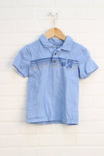 Light Blue Slubbed Polo (Size 6)