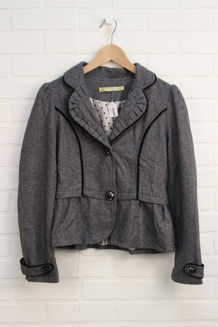 Heathered Grey Blazer (Women's Size M)