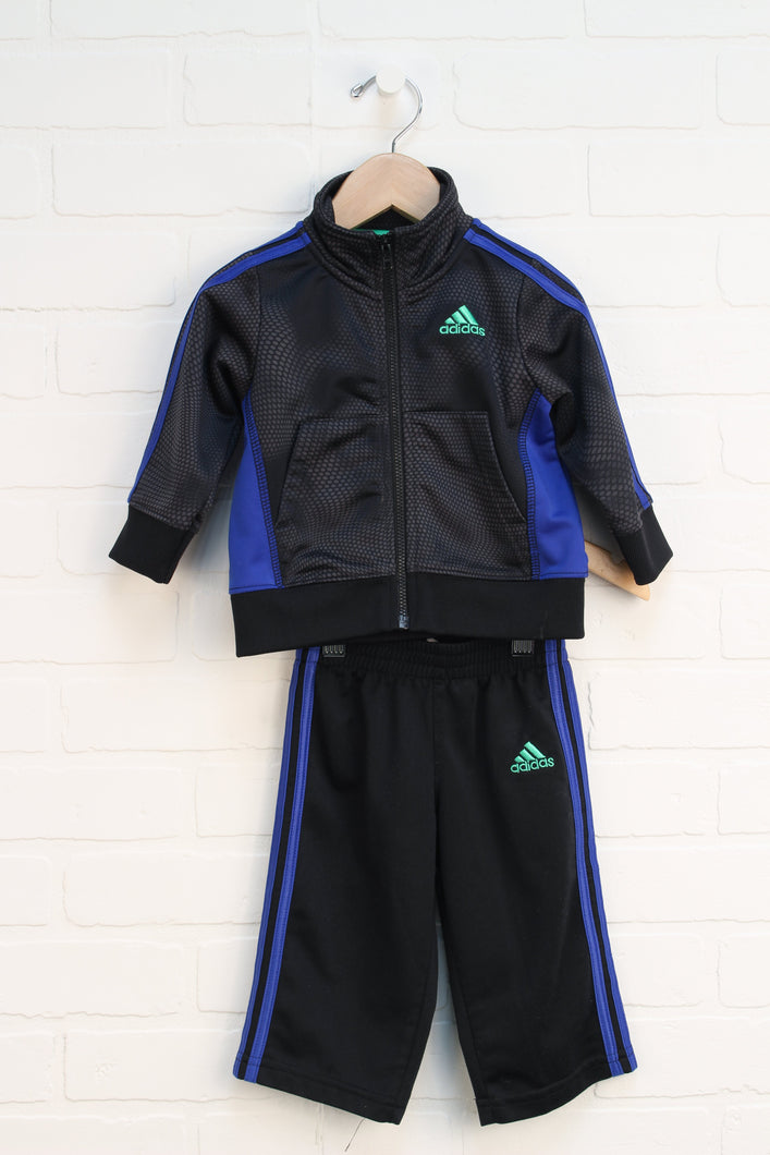 Black + Blue Athletic Outfit (Size 9M)