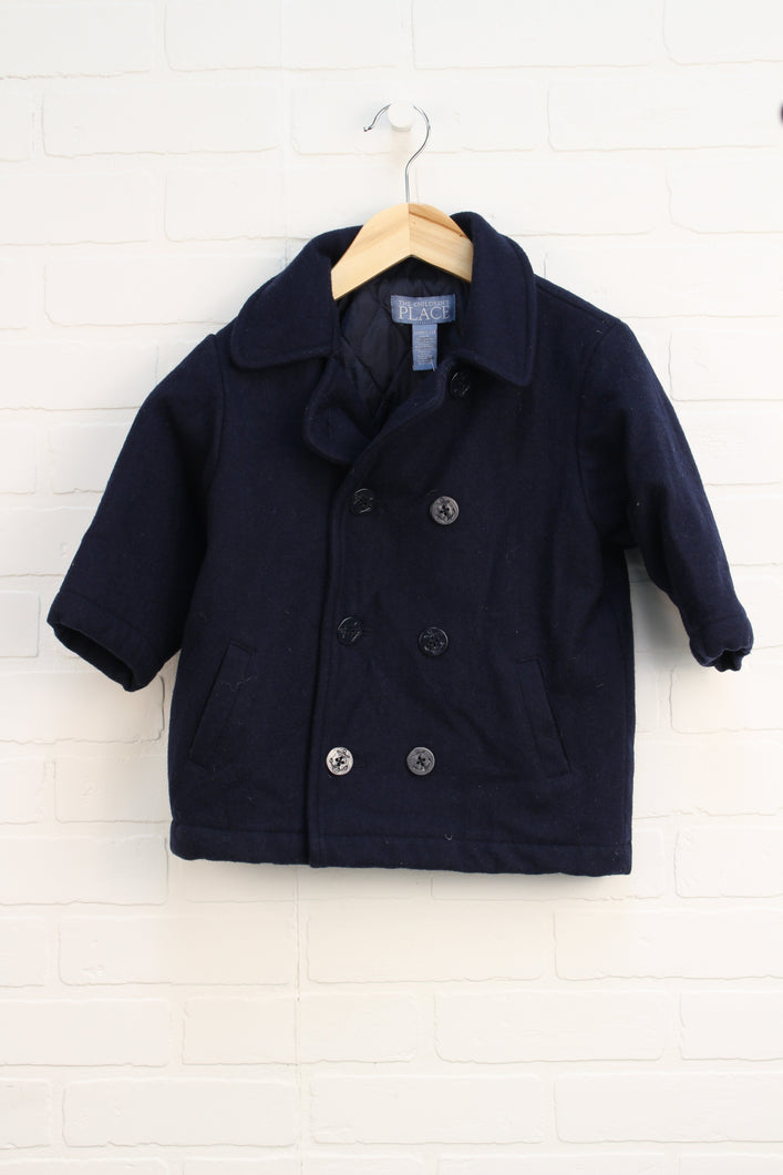 Navy Pea Coat (Size 3T)