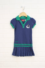 Indigo + Green Polo Dress: Vancouver Canucks (Size 4T)