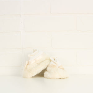 Cream Faux Fur Booties (Size 6-12M/Little Kids Shoe Size 1-2)