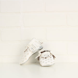 White + Silver Booties (Little Kids Shoe Size 4)