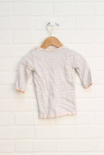Heathered Grey + Blush Dress (Size 62-3-6M)