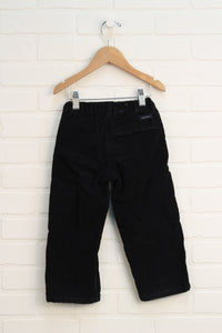 Black Relaxed Fit Cords (Size 3T)