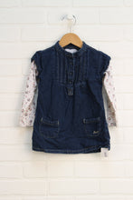 Denim Dress with Pintucks (Size 24M)