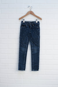 Dark Wash Embellished Jeans (Size 6S)
