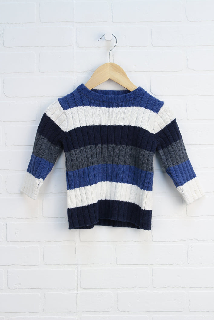 Navy + White Sweater (Size 3T)