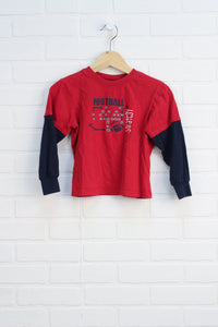 Crimson Graphic T-Shirt: Football (Size 5)