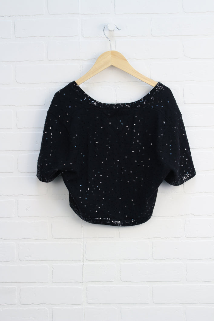 Black Sequin Shrug (Women's Size M)