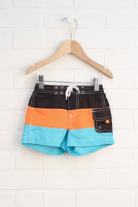Orange, Brown + Turquoise Swim Trunks (Carter's Size 6M)