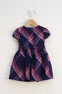 Navy + Pink Party Dress with Bloomers (Size 18M)