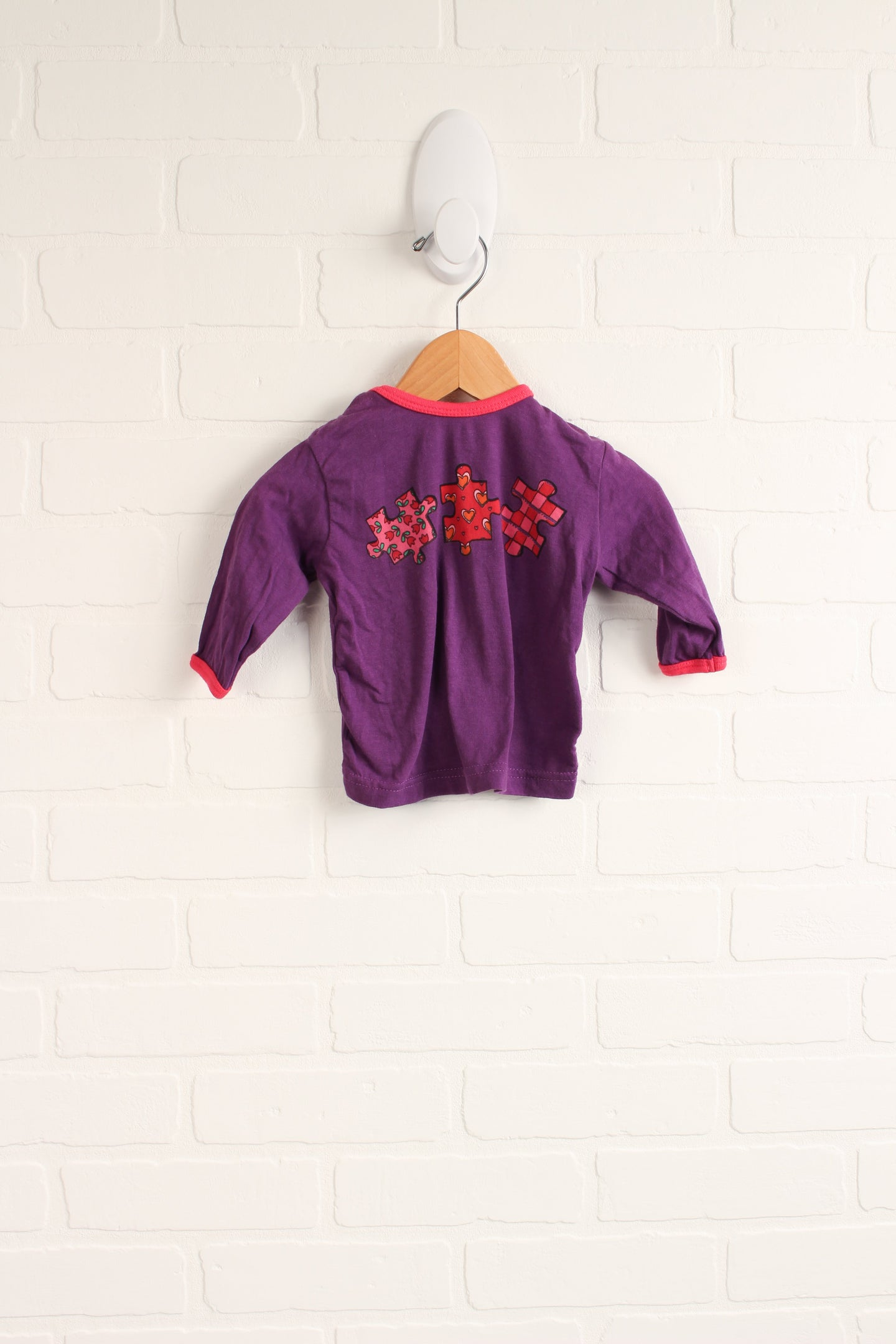 Purple + Hot Pink Graphic Top (Size 3-6M)
