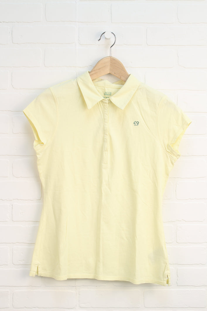 Yellow Cap Sleeve Top (Women's Size M)