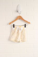 White + Yellow Lace Bubble Shorts (Size 3-6M)