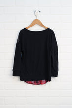 Black Graphic Sweatshirt (Size 8)
