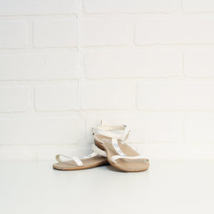White Sparkle Sandals (Little Kids Shoe Size 9)