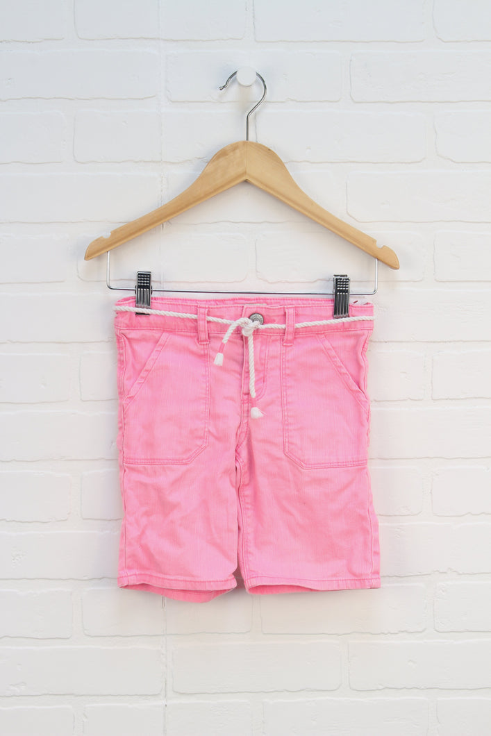 Fluorescent Pink Denim Shorts (Size 5)