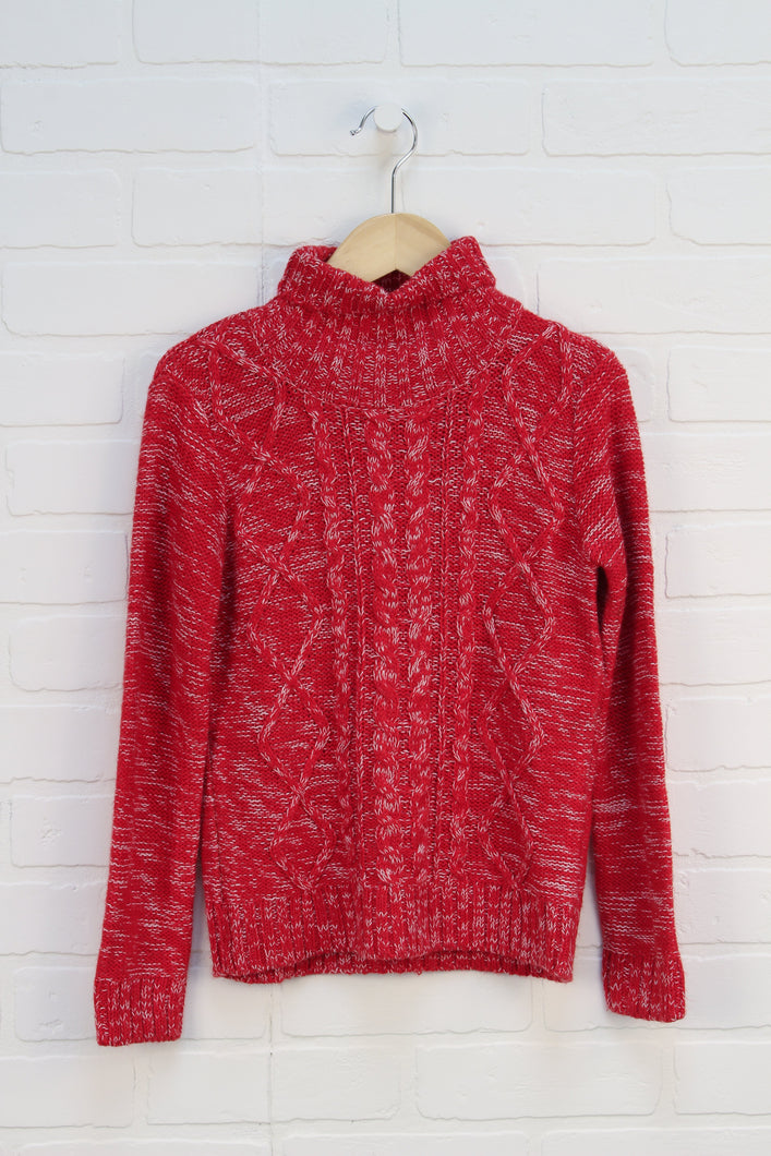 Red + White Sweater (Size M/7-8)