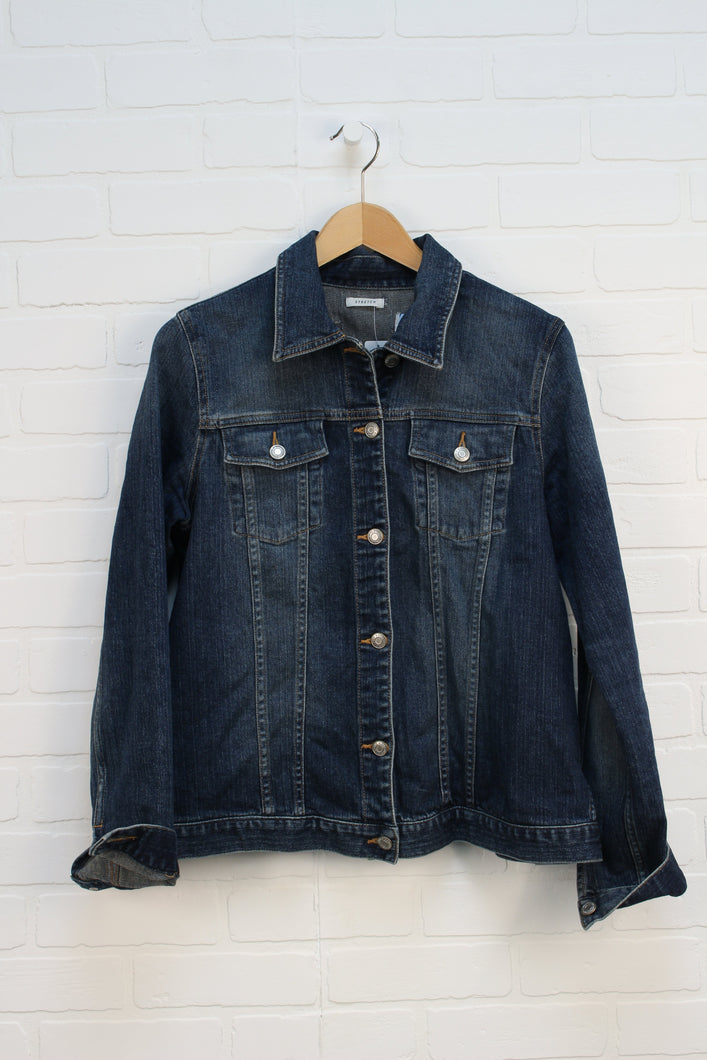 Vintage Wash Denim Jacket (Maternity SIze M)