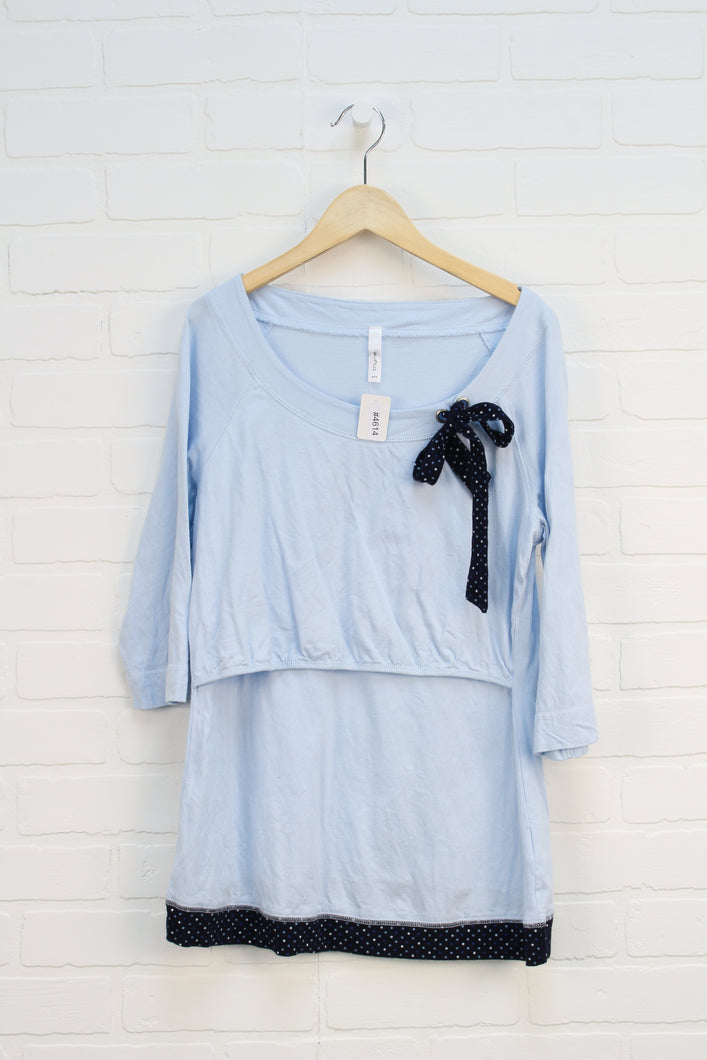 Light Blue Nursing Top (Maternity Size S)