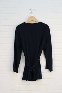 Navy Maternity Blouse (Maternity Size S)