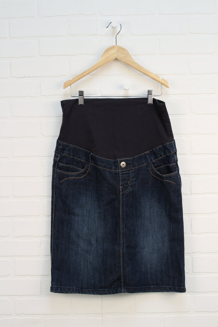 Denim Maternity Skirt (Maternity Size M)