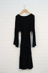 Black Bell Sleeve Maternity Dress (Maternity Size M)