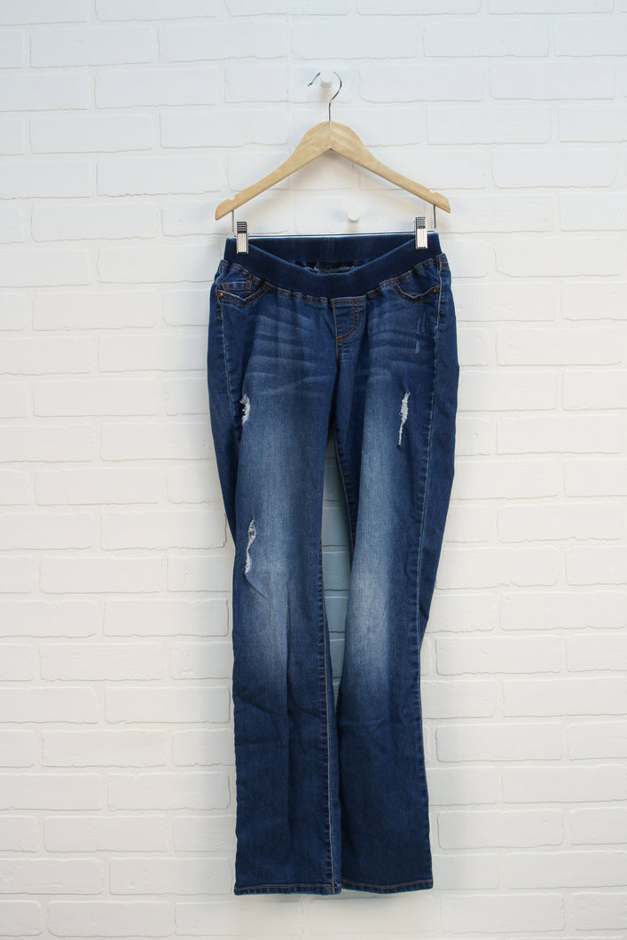Distressed Wash Maternity Jeans (Maternity Size M)