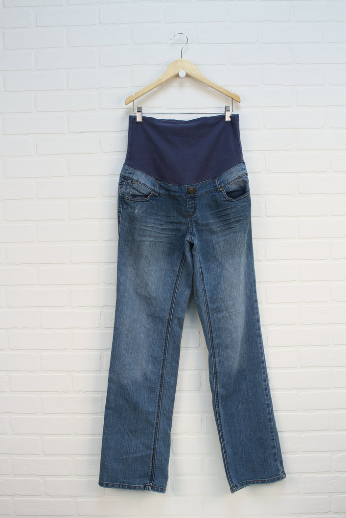 Vintage Wash Maternity Jeans (Maternity Size S)