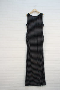 Heathered Grey + Black Striped Dress (Maternity Size M)