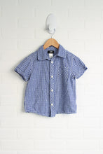 Blue Gingham Button-Up (Size 2-3)
