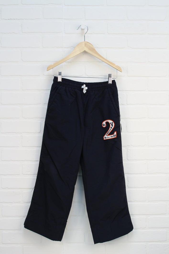 Navy Fleece Lined Athletic Pants (Size 8)