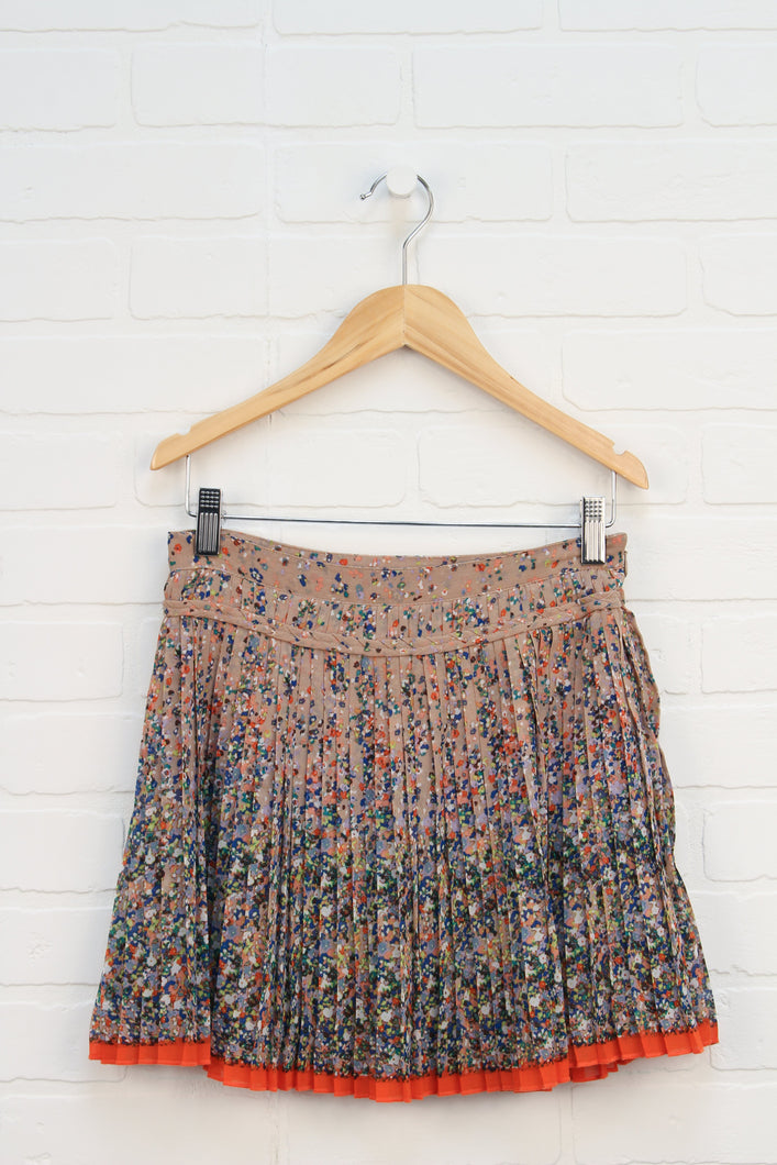 Tan + Multi Skirt (Women's Size 0)