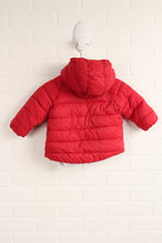 Red Puffer Coat (Size 6-9M)