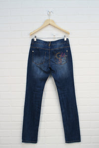 "Distressed Wash ""Skinny Low"" Jeans (Size 12)"