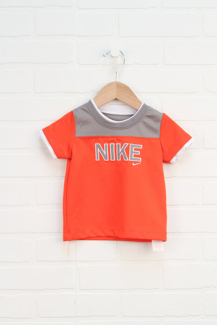 Orange + Putty Athletic T-Shirt (Size 12M)