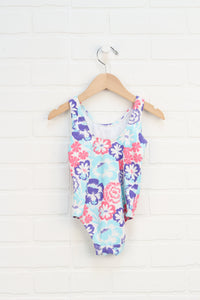 White + Multi Floral Swimsuit (Size 18-24M)