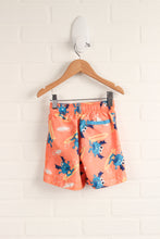 Fluorescent Orange Graphic Swim Trunks (Size 18-24M)