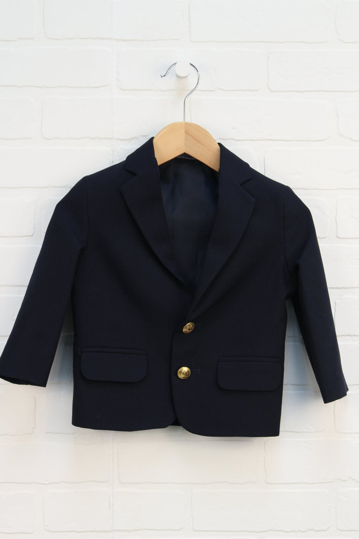 Navy Suit Jacket (Size 2T)