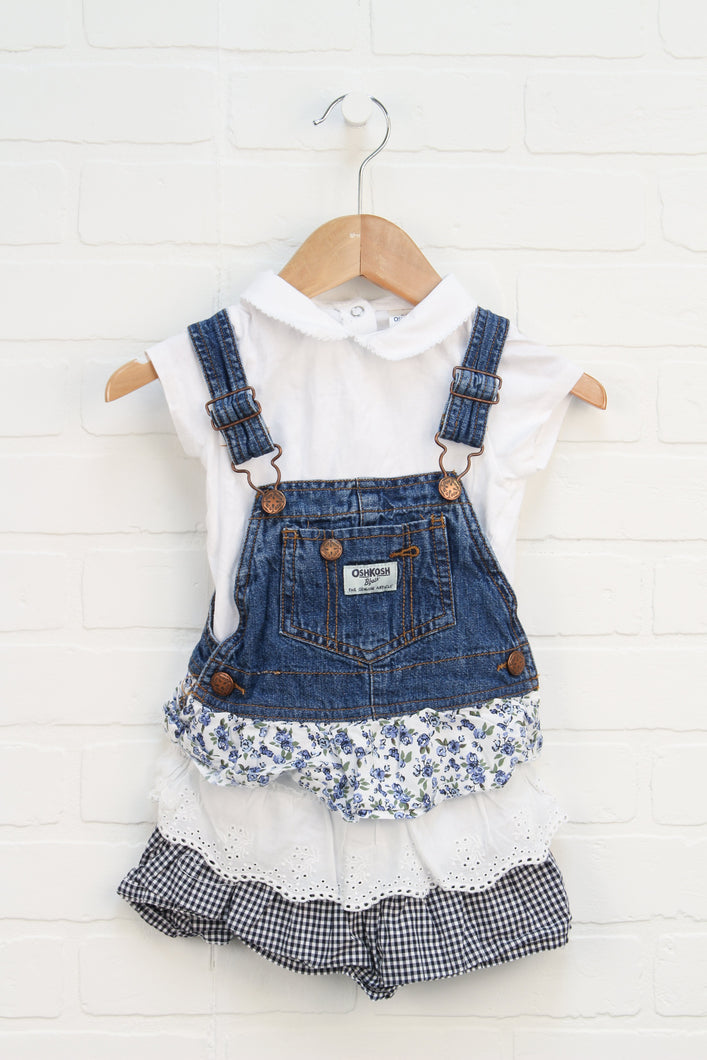 OUTFIT: Overall Dress Set (Size 2T)