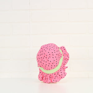Pink Bucket Hat: Watermelon (Size 0-6M)
